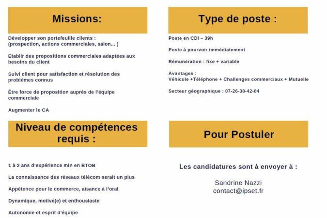 Recrutement Poste commercial(e) part 2